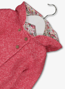 Pure Cotton Chunky Knit Hooded Cardigan  Baby Partridge