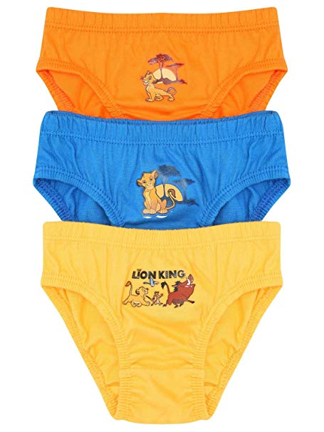 Boys The Lion King Briefs Three Pack
