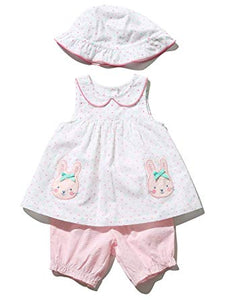 Baby Girl Bunny Top Hat and Bloomers Outfit Set
