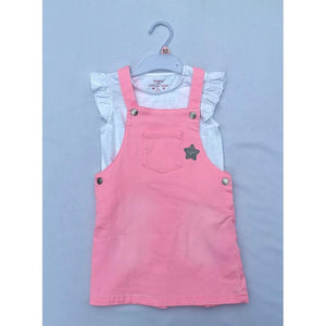 Girls 18-24mth Pink Dress With White Top