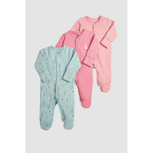Mamas & Papas Swan All-in-Ones - 3 Pack