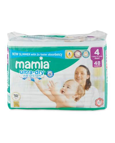 Mamia Ultra Dry Size 4 - 48 Nappies Size / Weight: 7-18 kg / 15-40 lbs
