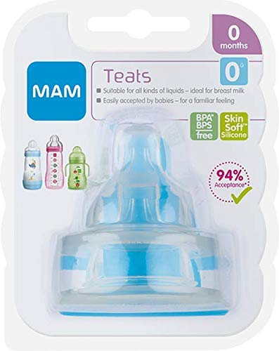 MAM Extra-Slow Flow Teats Size 0+ Months