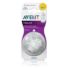 Load image into Gallery viewer, Philip Avent Natural Teat Newborn Flow 2pk 0 Months BPA Free Baby Feeding