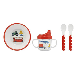 Wheels And Wings Melamine Nursery Set