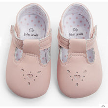 Load image into Gallery viewer, John Lewis & Partners Baby Leather T-Bar Shoes, Pink 12-18 months