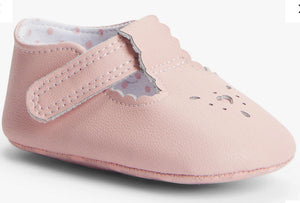 John Lewis & Partners Baby Leather T-Bar Shoes, Pink 12-18 months