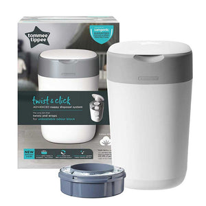 Tommee Tippee Twist And Click Advanced Cotton White Nappy Disposal System