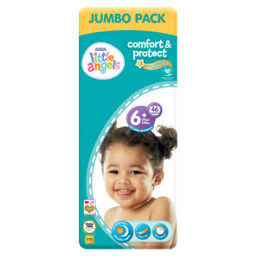Little Angels Comfort & Protect Size 6+ Nappies Jumbo Pack