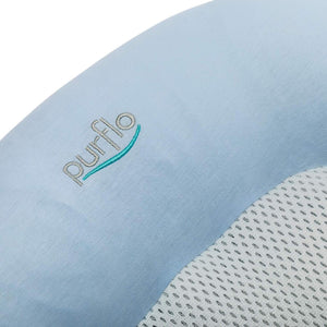 Purflo Breathable Cotton Baby Sleep Positioner Nest Bed - French Blue