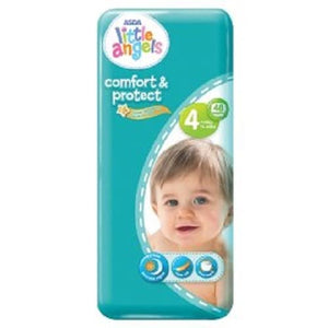 Little Angels Comfort & Protect Size 4 Nappies - 48 pieces, 7 - 18kg