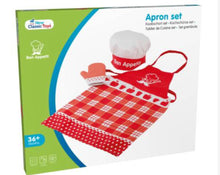 Load image into Gallery viewer, Kids Apron Set (Apron, oven glove & cooking cap)