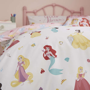 Disney Princess Duvet Cover,Pillow Case and Fitted Sheet Set
