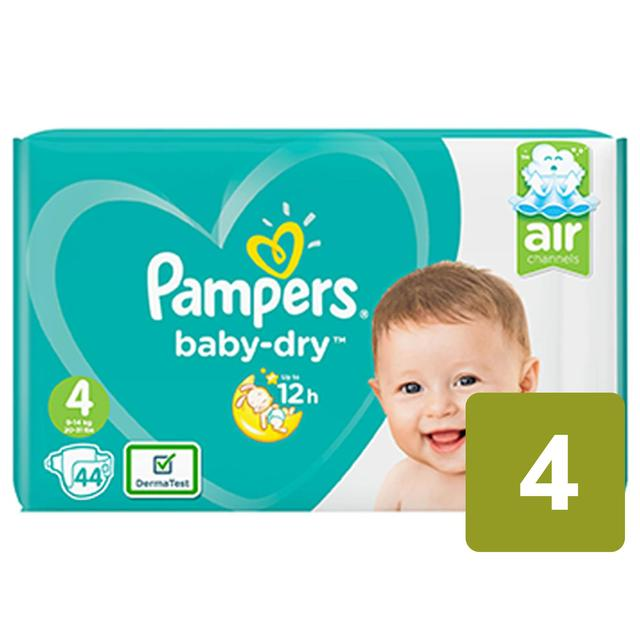 Pampers Baby-Dry Size 4 Nappies Essential Pack Size 9 - 14kg