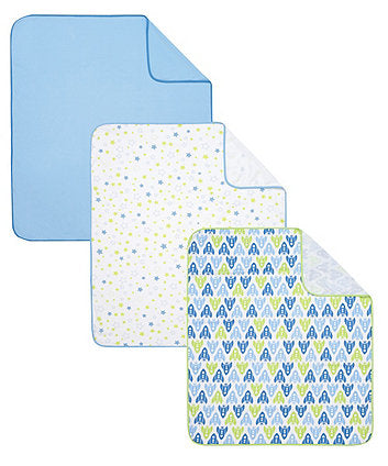 Mothercare Jersey Swaddle Blankets - 3 pack