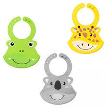 Load image into Gallery viewer, Nuby Roly Poly Animal Face Bib