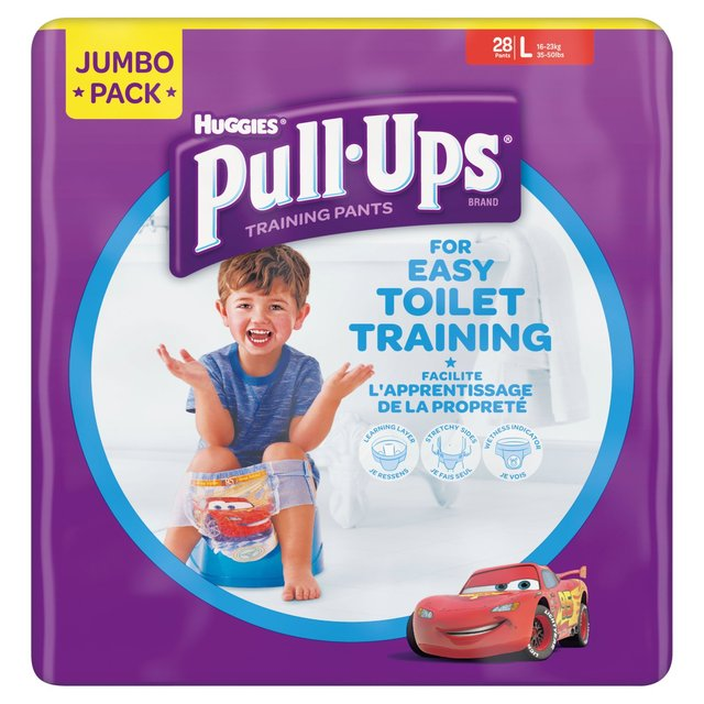 Huggies Pull Ups For Easy Toilet Training Boys Large Jumbo pack 27 pack- 16 - 23kg