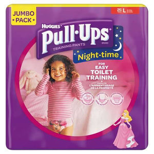 Huggies Pull Ups Night Time Potty Training Pants Girls jumbo pack 25 pieces,16 - 23kg