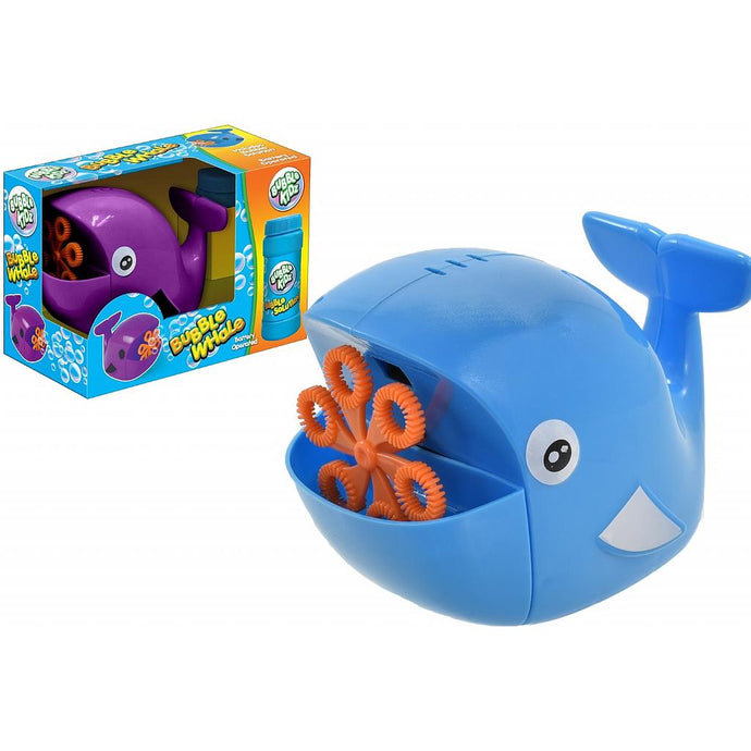 Blue Bubble Whale Machine with Solution