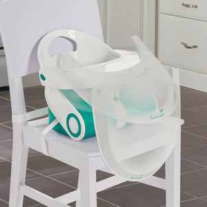 Summer Infant Sit N Style Booster Seat-Teal/White
