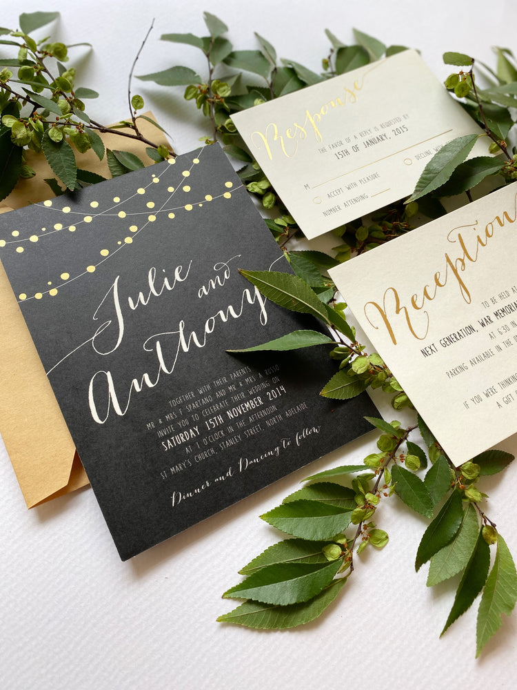 Fairy Lights in Hot Foil