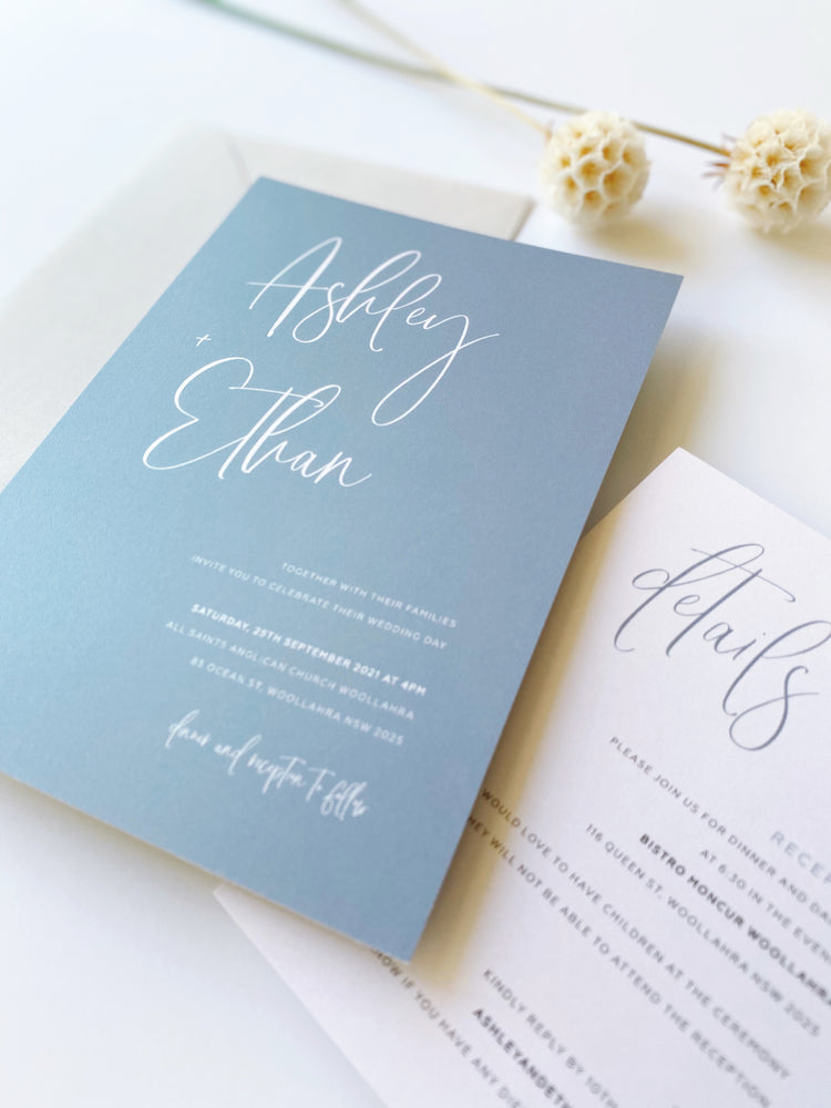 Load image into Gallery viewer, Ashley's Calligraphy in Light Dusty Blue