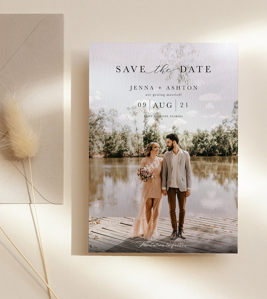 Save the Date with Personalised Photo