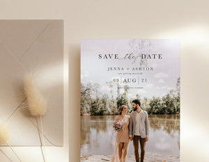 Load image into Gallery viewer, Save the Date with Personalised Photo