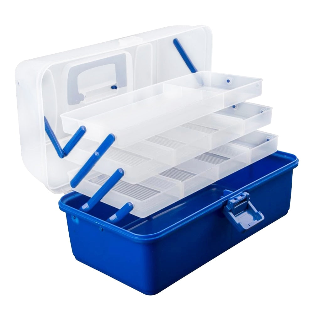 Waterproof Multi Layer Fishing Tackle Box Fly Fishing Storage Case