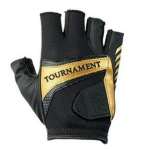 Genuine Leather Daiwa Fishing Gloves 3 Finger Cut