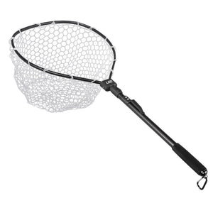 Leo Fly Fishing Net Fish Landing Net With Folding Aluminum Handle
