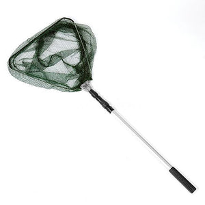 Triangular Telescopic Folding Fishing Landing Net 3 Section Extending Handle
