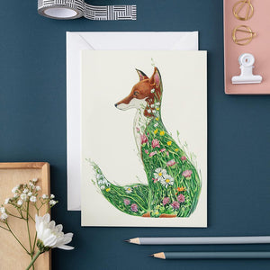 Fox in a Meadow - Card - The DM Collection