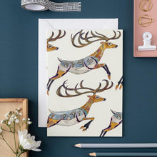 Load image into Gallery viewer, Leaping Reindeer - Card - The DM Collection