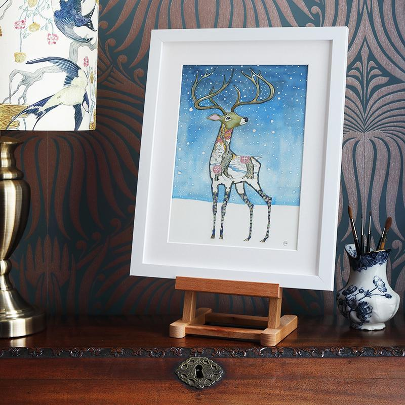 Stag in the Snow  - Print - The DM Collection