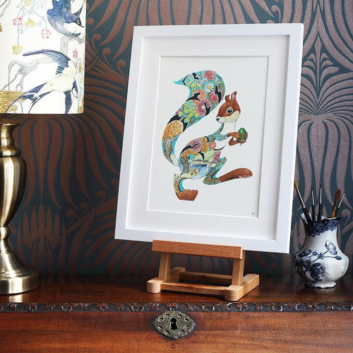 Turquoise Squirrel  - Print - The DM Collection