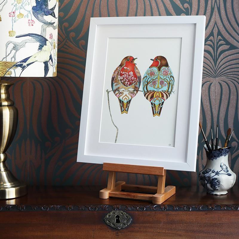 Two Robins  - Print - The DM Collection