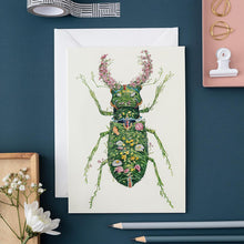 Load image into Gallery viewer, Stag Beetle - Card - The DM Collection