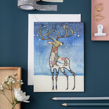 Load image into Gallery viewer, Stag in the Snow - Card - The DM Collection