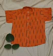 Load image into Gallery viewer, Orange Ikat Shirt