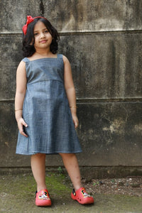 Denim Frock With Jacket