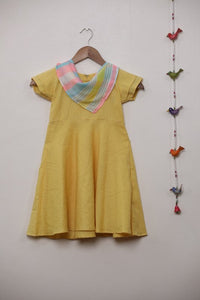 Yellow Frock with Scarf