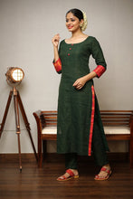 Load image into Gallery viewer, Sungudi Green Suit Set
