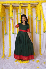 Load image into Gallery viewer, Sungudi Emerald - Maternity/Nursing Dress