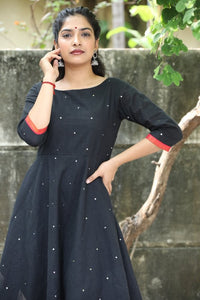 Black Manjari Zari Dress
