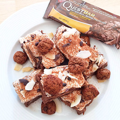 Brownie med questbar