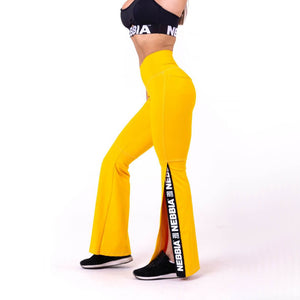 Nebbia 70S Fancy Flare Pants Yellow