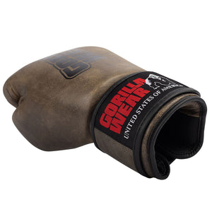 Yeso Boxing Gloves Vintage Brown