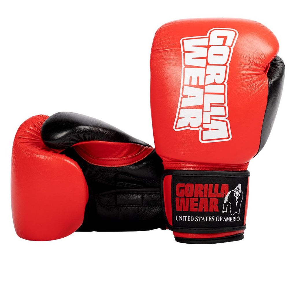 Ashton Pro Boxing Gloves Red Black