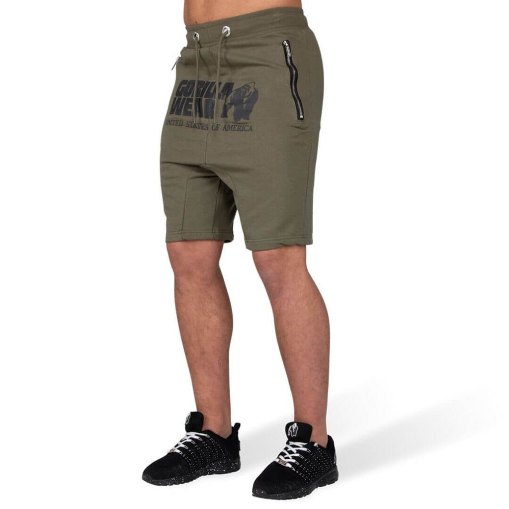 Alabama Drop Crotch Shorts Army Green